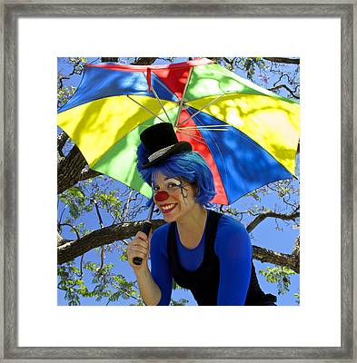 Lady Green Apple With Her Umbrella Framed Print by Venetia Featherstone-Witty