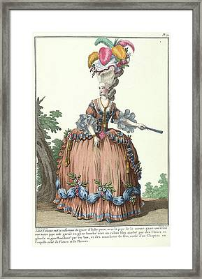 Lady In A Circassian Dress Framed Print by British Library