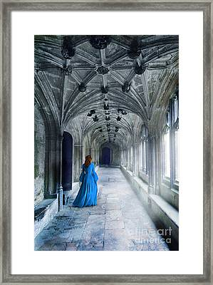 Lady In A Corridor Framed Print by Jill Battaglia