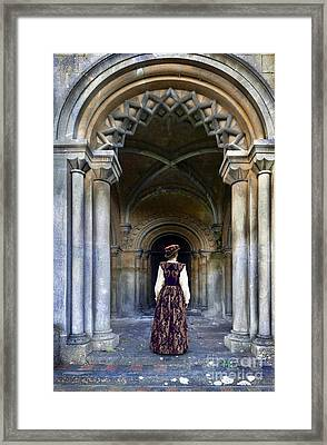 Lady In Archway Framed Print by Jill Battaglia