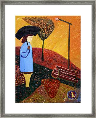 Lady In Blue Framed Print by Vadim Levin
