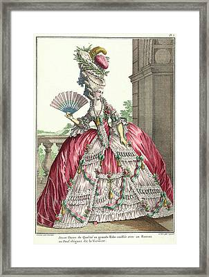 Lady In Formal Dress Framed Print by British Library