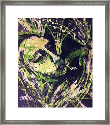 Lady In Moss Framed Print