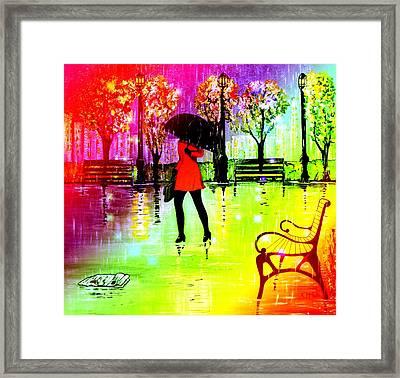 Rain1 Framed Print by Kenneth A Mc Williams