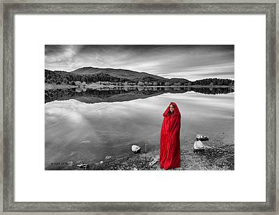 Lady In Red-2 Framed Print