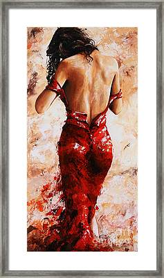 Lady In Red #24 Large  Framed Print