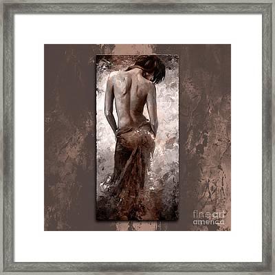 Lady In Red 27 Style Dark Mistyrose Framed Print