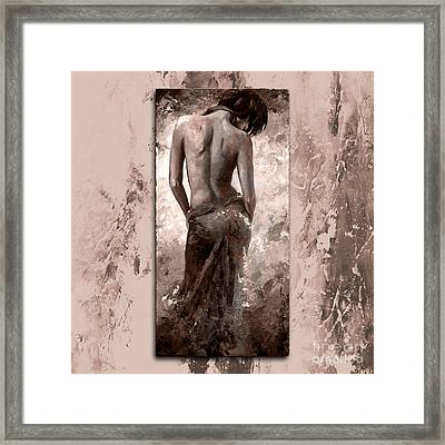 Lady In Red 27 Style Mistyrose Framed Print by Emerico Imre Toth