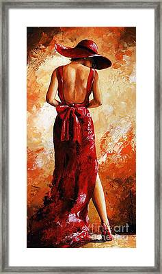 Lady In Red  39 Framed Print by Emerico Imre Toth