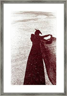 Lady In Red Framed Print by Caitlyn  Grasso