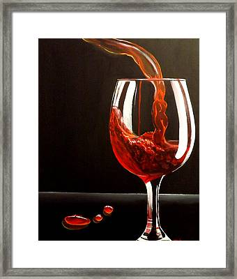 Lady In Red Framed Print by Darren Robinson