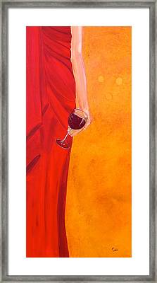 Lady In Red Framed Print by Debi Starr