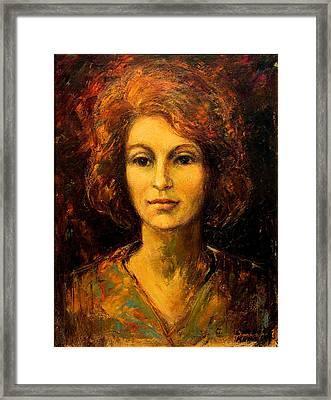 Lady In Red Framed Print by    Michaelalonzo   Kominsky