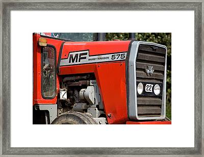 Lady In Red Framed Print by Paul Lilley