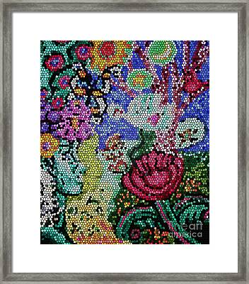 Lady In Stained Glass Framed Print