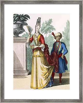 Lady In Summer Dress, C.1690-1700 Framed Print
