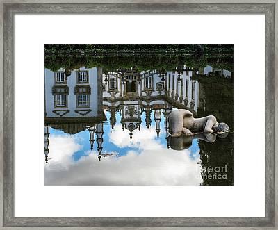Lady In The Pond Framed Print by Arlene Carmel