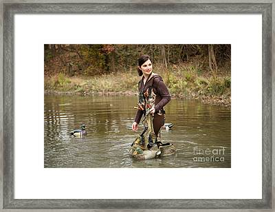 Lady In The Water Framed Print by Suzi Nelson