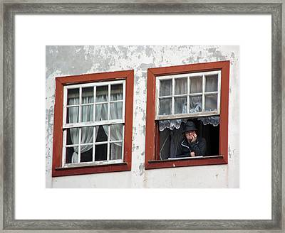 Lady In The Window Framed Print by Dave Dos Santos