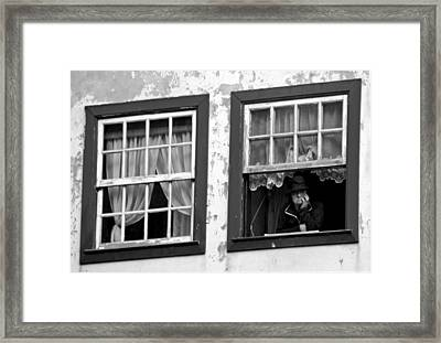 Lady In The Window II Framed Print by Dave Dos Santos