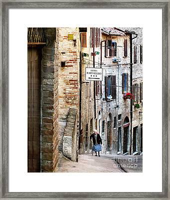Lady In Urbino Framed Print