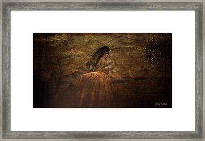 Lady In Waiting Framed Print by Kylie Sabra