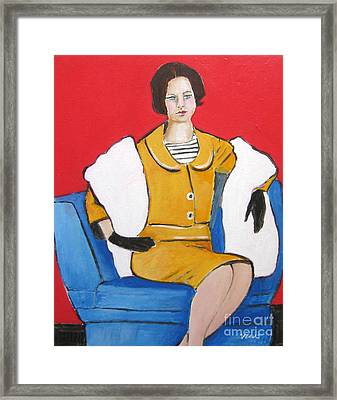 Lady In Yellow Framed Print by Venus
