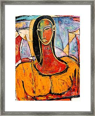 Lady In Yellow Framed Print by William Tolliver