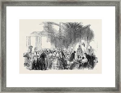 Lady John Russells Assembly On Wednesday Evening Framed Print by English School