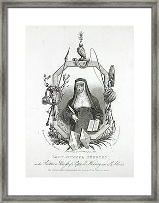 Lady Juliana Berners Framed Print by British Library