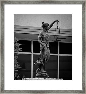 Lady Justice Framed Print