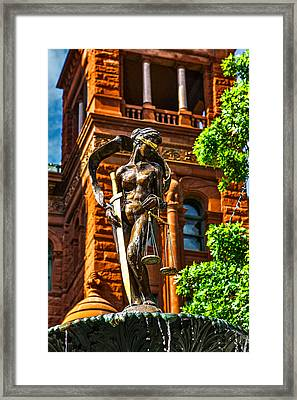 Lady Justice Fountain Framed Print by Greg Sharpe