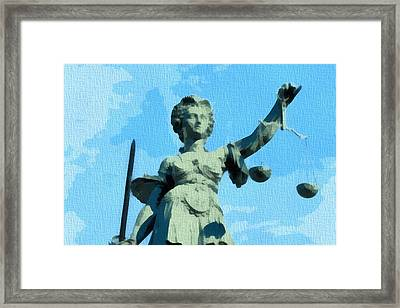 Lady Justice Pop Art Framed Print by Dan Sproul