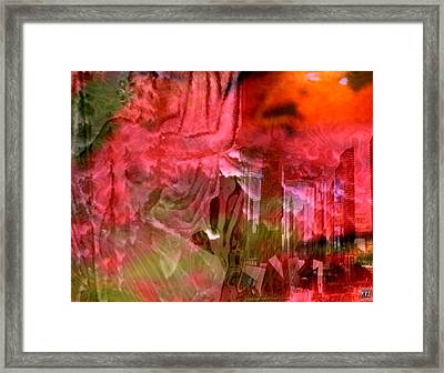 Framed Print featuring the digital art Lady by Kelly McManus