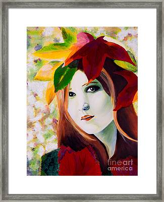 Lady Leaf Framed Print