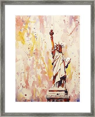 Lady Liberty 1 Framed Print by Ryan Fox