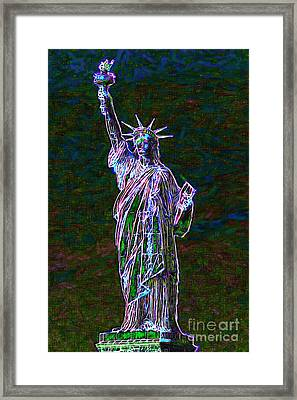 Lady Liberty 20130115 Framed Print by Wingsdomain Art and Photography