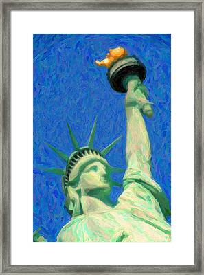 Lady Liberty Framed Print by Celestial Images