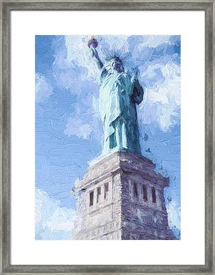 Lady Liberty Framed Print by Ike Krieger