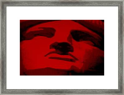 Lady Liberty In Red Framed Print by Rob Hans