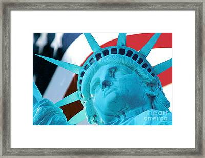 Lady Liberty  Framed Print by Jerry Fornarotto