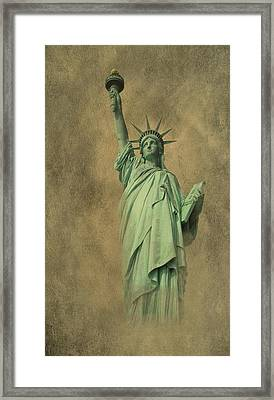 Lady Liberty New York Harbor Framed Print