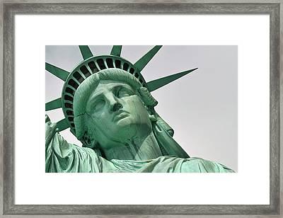 Lady Liberty Framed Print by Paul Van Baardwijk
