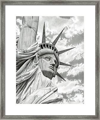 Lady Liberty  Framed Print by Sarah Batalka
