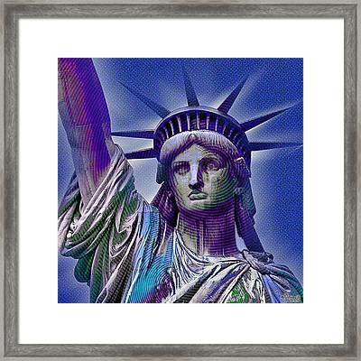 Lady Liberty Framed Print by Tony Rubino
