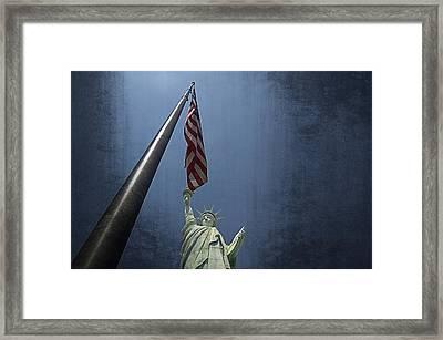 Lady Liberty Vegas Framed Print