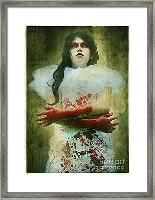 Lady Macbeth's Insanity Framed Print by Eating Strawberries