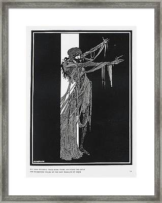 Lady Madeline Of Usher Framed Print by British Library