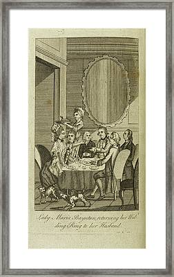 Lady Maria Bayntun Framed Print by British Library