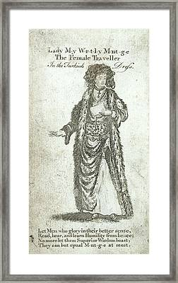 Lady Mary Wortley Montagu Framed Print by British Library